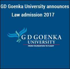 GD Goenka University announces Law admission 2017