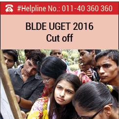 BLDE UGET 2016 Cut off