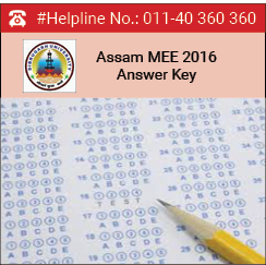 Assam MEE 2016 Answer Key