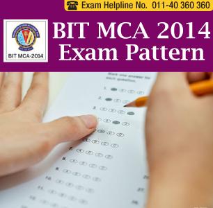 BIT MCA Entrance Exam 2014 Paper Pattern