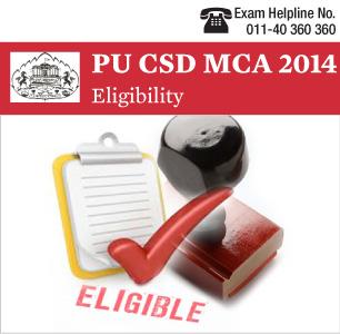 PUCSD MCA Entrance Exam 2014 Eligibility