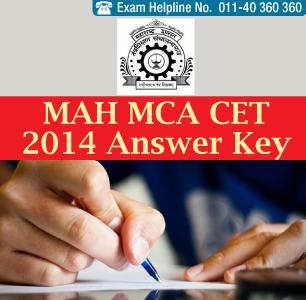 MAH MCA CET 2014 Answer Key