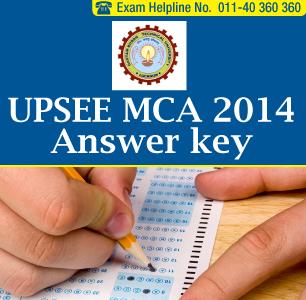 UPSEE MCA 2014 Answer Key