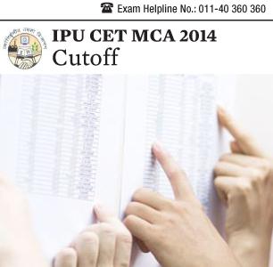 IPU CET MCA 2014 Cutoff