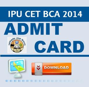 IPU CET BCA 2014 Admit Card