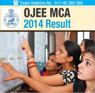 OJEE MCA 2014 Result