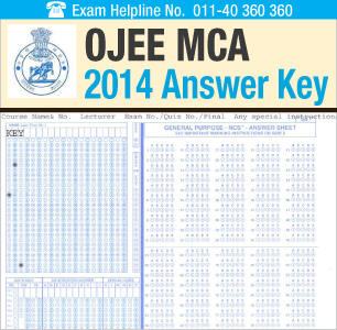 OJEE MCA 2014 Answer Key