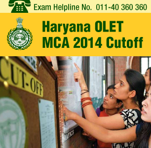 Haryana OLET MCA 2014 Cutoff