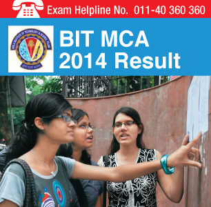 BIT MCA 2014 Result