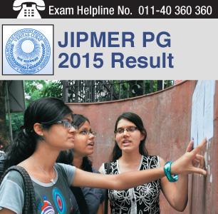 JIPMER PG 2015 Result