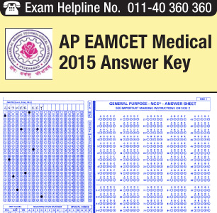 AP EAMCET Medical 2015 Answer Key