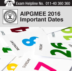 AIPGMEE 2016 Important Date