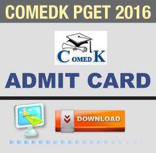 COMEDK PGET 2016 Admit Card