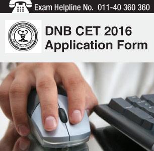 DNB CET 2016 Application Form