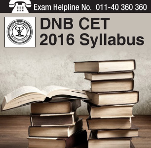 DNB CET 2016 Syllabus