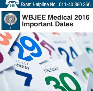 WBJEE Medical 2016 Important Dates