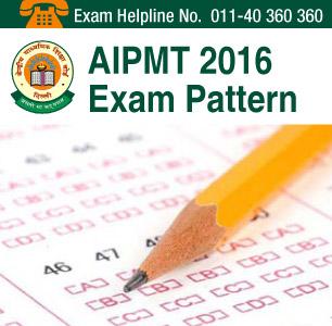 AIPMT 2016 Exam Pattern