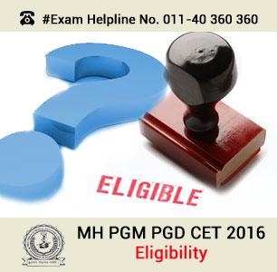 MH PGM PGD CET 2016 Eligibility