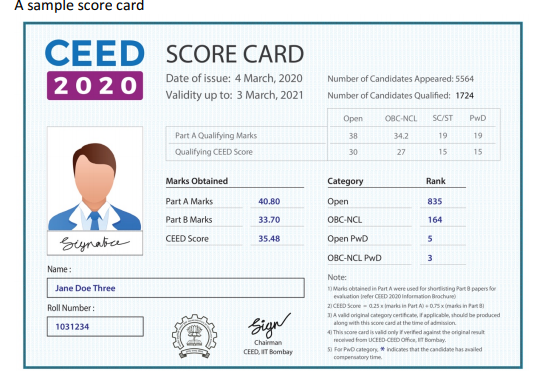 Sample-Score-card-CEED-2020
