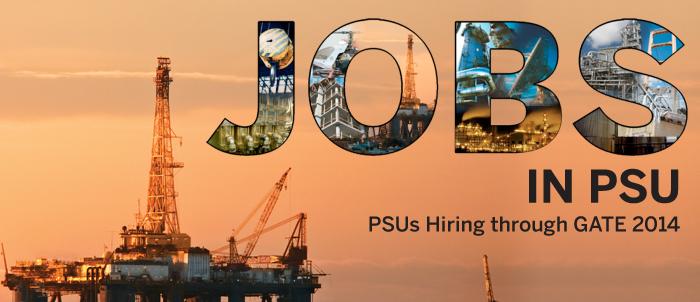 PSU Hiring through GATE 2014