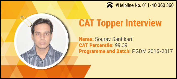 How SPJIMR CAT Topper Sourav Santikari secured 99.39 percentile by playing with his strengths