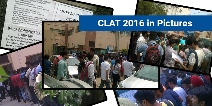 CLAT 2016 Exam Day in Pictures