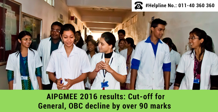 AIPGMEE 2016 results: Cut-off for General, OBC decline by over 90 marks