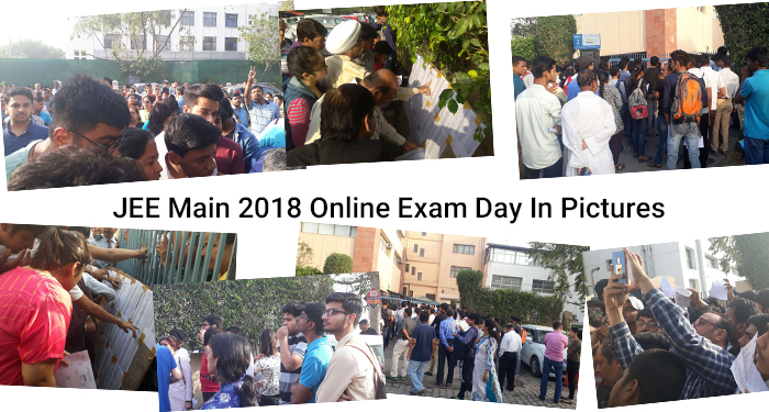 JEE Main 2018 Online Exam Day in Pictures – Day 1 & 2