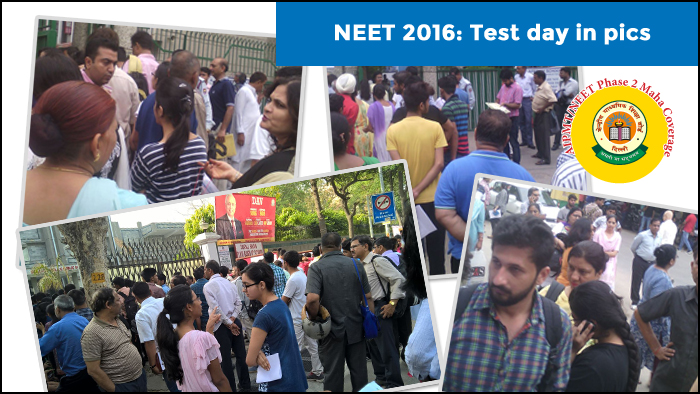 NEET Phase II 2016: Test day in Pictures