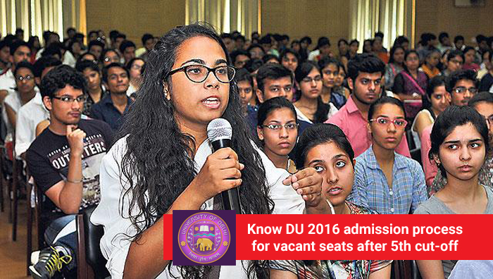 DU Admission 2016: Know admission process for vacant seats after 5th cut-off