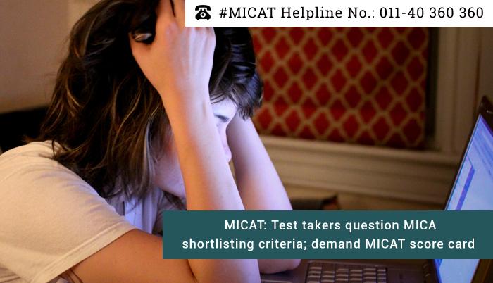 MICAT: Test takers question MICA shortlisting criteria; demand MICAT score card
