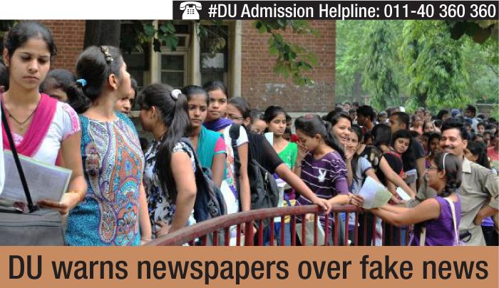 DU warns newspapers over publishing fake news