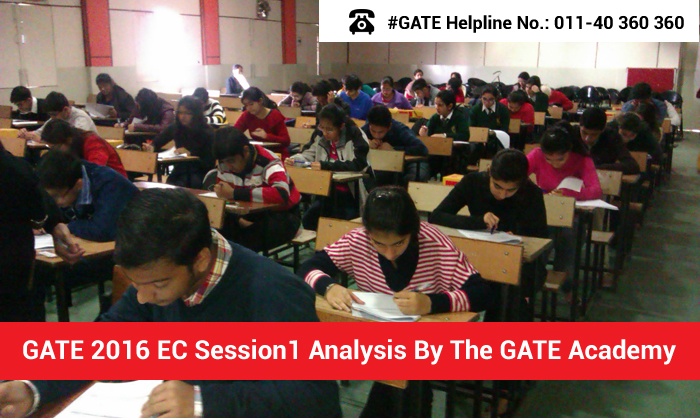 GATE 2016 EC Session 1 Analysis by The GATE Academy