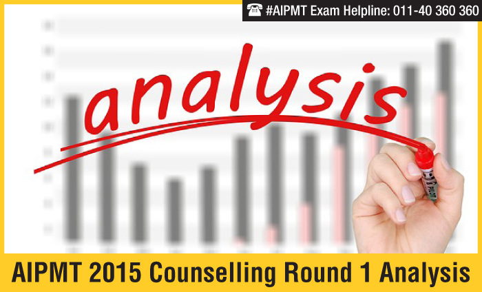 AIPMT 2015 Counselling Round 1 Analysis - closing rank fall by 1000