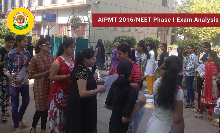 AIPMT 2016 - NEET Phase 1 exam analysis