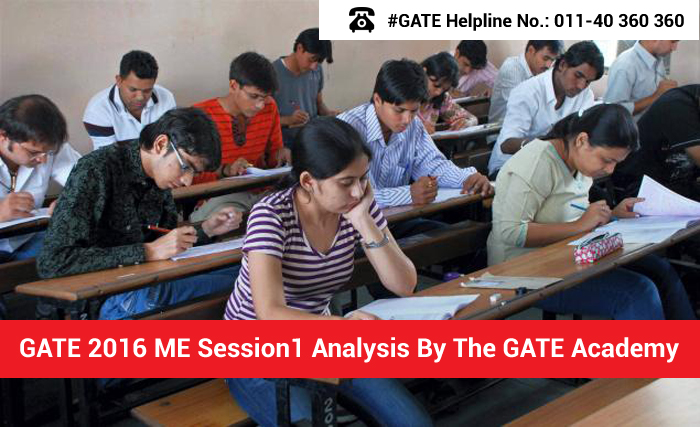 GATE 2016 ME Session 1 Analysis by The GATE Academy