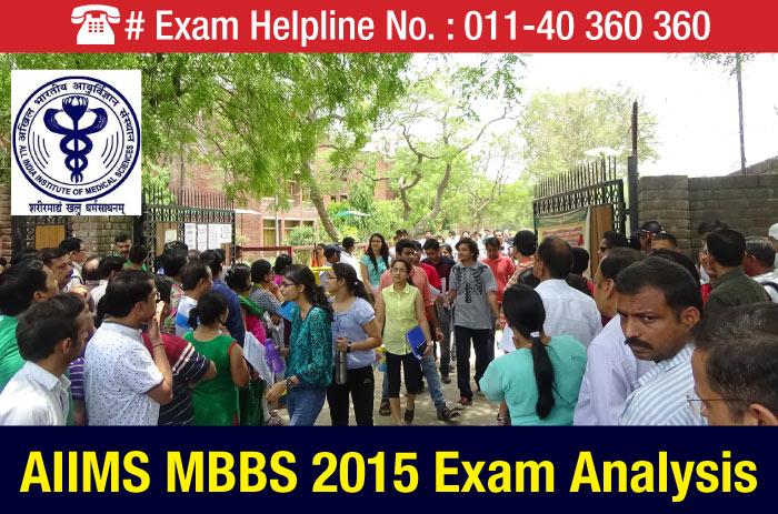 AIIMS MBBS 2015 Exam Analysis
