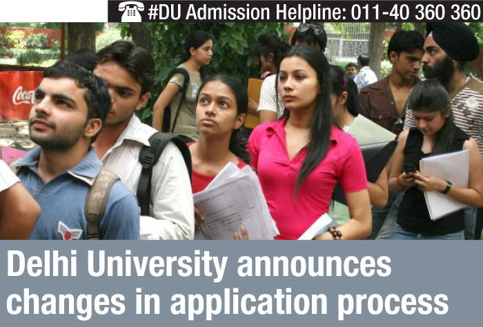 Delhi University announces changes in application process