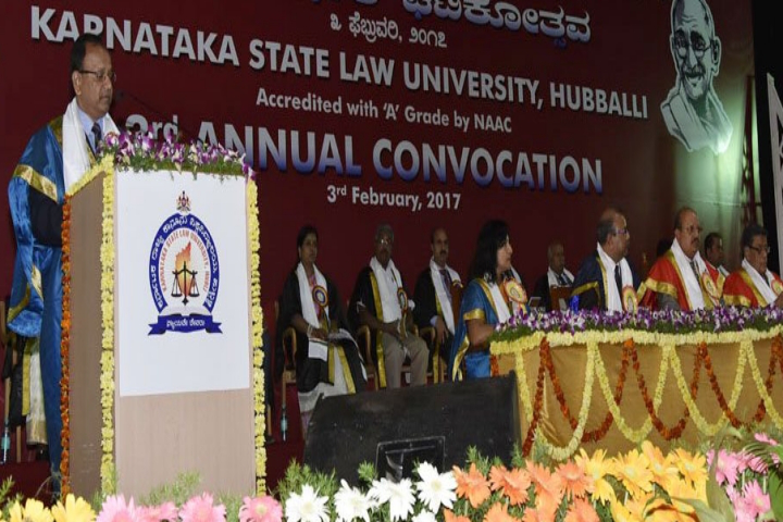 Karnataka State Law University, Hubli  Convocation at Karnataka State Law University Hubli