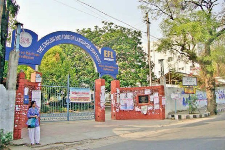 English and Foreign Languages University, Hyderabad  Entrance view of English and Foreign Languages University Hyderabad