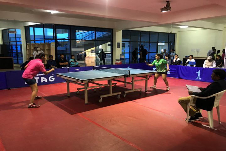 Jagran Lakecity University, Bhopal Table Tennis game of jagran lakecity university bhopal