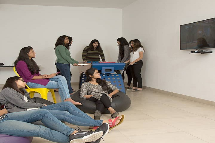 Bennett University, Greater Noida  TV Room at Girls Hostel Bennett University Greater Noida