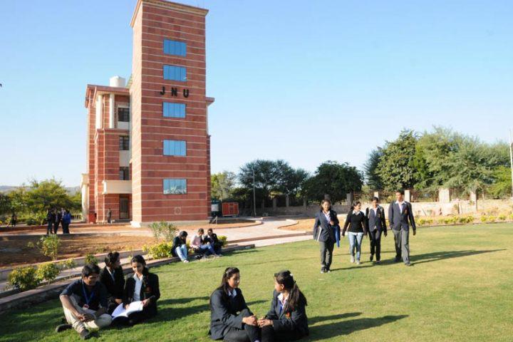 Jaipur National University, Jaipur Garden View of Jaipur National University Jaipur
