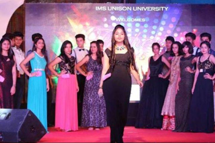 IMS Unison University, Dehradun  Fashion show at IMS Unison University, Dehradun