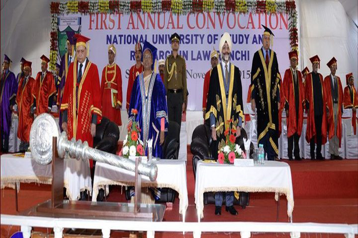 National University of Study and Research in Law, Ranchi Convocation Ceremony at National University of Study and Research in Law Ranchi