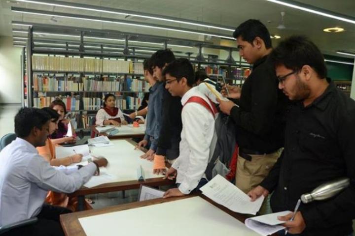 Auro University, Surat  Library View ofAuro University Surat