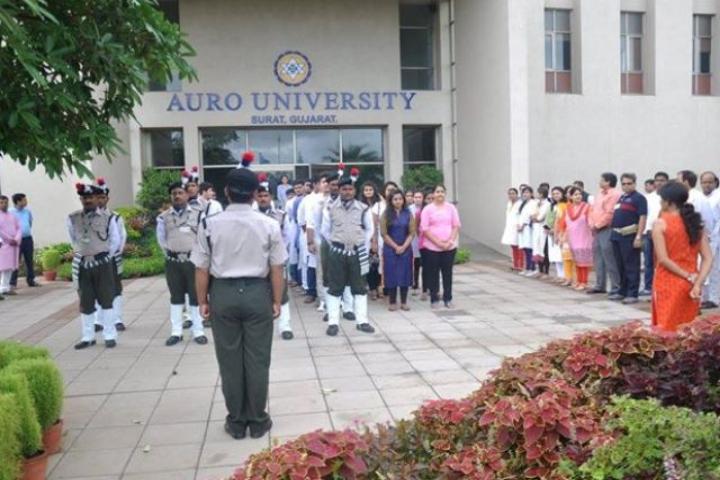 Auro University, Surat  NCC Cadets of Auro University Surat