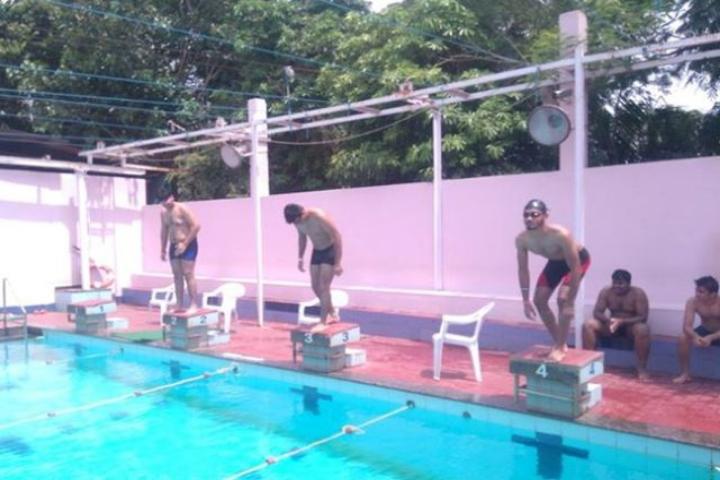 Auro University, Surat  Swimming pool of Auro University Surat