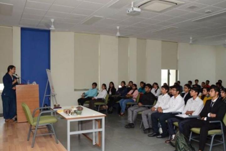 Auro University, Surat  Classroom view of Auro University Surat