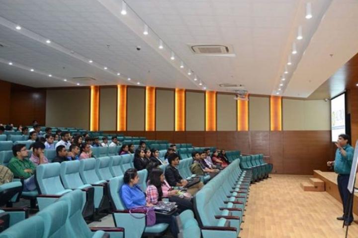 Auro University, Surat  Auditorium view of Auro University Surat
